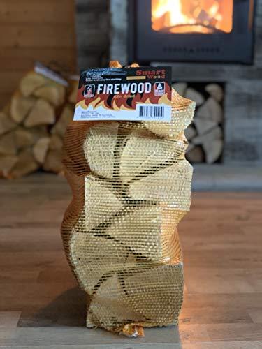 Firewood - Kiln Dried Hardwood Logs - Ash Oak Mixed Premium 25cm Logs - 25L Net - Sustainably Sourced Firewood