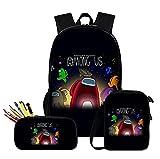 Nuevo 3 unids/set mochila 2021 juego entre los Estados Unidos moda hombro bolsos lindo 3D dibujos animados imprimir escuela mochila mochilas estudiante