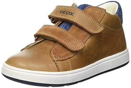 Geox B BIGLIA Boy D First Walker Shoe, Caramel/Navy, 24 EU