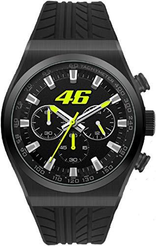 Valentino Rossi Collezione VR46 Classic, Cronografo Uomo, Nero, Unica