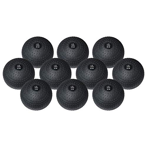 Fitness First Slam Ball, Easy-Grip, Weight Training Crossfit WOD (8 LBS)