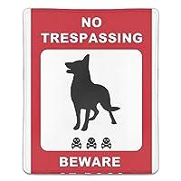 マウスパッド 犬注意