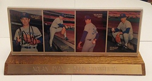 PSA Authenticated Nolan Ryan 1990 Mother's Cookies Autographed Cards Plaque