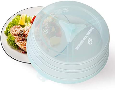 Collapsible Silicone Microwave Splatter Cover for Food BPA Free Silicone Vented Microwave Plate product image