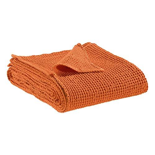 Vivaraise - Couverture canapé - Plaid canapé - Plaid - Couverture polaire - Couvre lit - Couverture plaid – Couverture chaude – Plaid extra-doux - Multifonctions - 140 x 200 - Clementine Orange - Maia