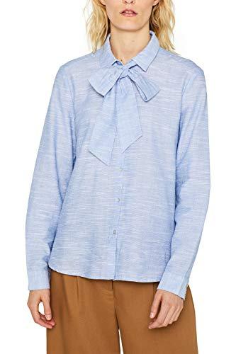 ESPRIT Damen 099Ee1F015 Bluse, Blau (Light Blue 440), (Herstellergröße: 38)