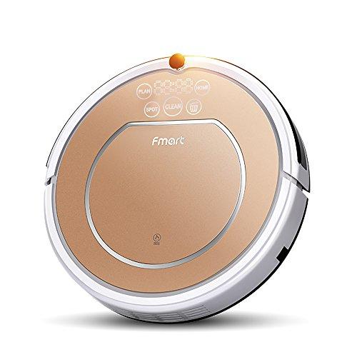 Fmart - mod. E-R302G(S) - Robot aspirapolvere intelligente, per la pulizia della tua casa, dotato di spazzole rotanti, filtro anti-acaro HEPA, ricarica automatica, per una pulizia automatica su bagnato e asciutto, rimozione di capelli e di peli di animali