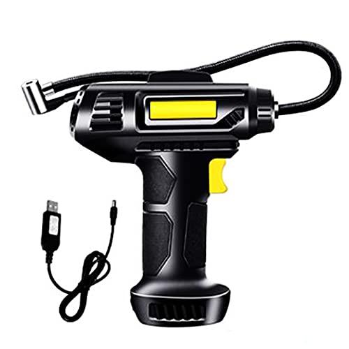 GXTIAN 120W 12V Compresores de Aire Portátil 150PSI 35L/Min, Bomba Aire Coche Recargable 2,500mAh Automático con LCD Pantalla Digital y LED Luz Apto para Neumáticos de Coche Moto Bicicleta