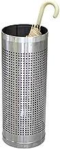 YAeele Roestvrij staal paraplubak Household Hotel opslag Corridor Geplaatst Paraplu Emmer (zilver 57.5 * 22cm) Paraplubak
