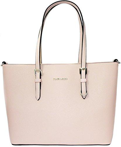 Flora & Co Shopper Tasche Handtasche Rosa Schultertasche Saffiano