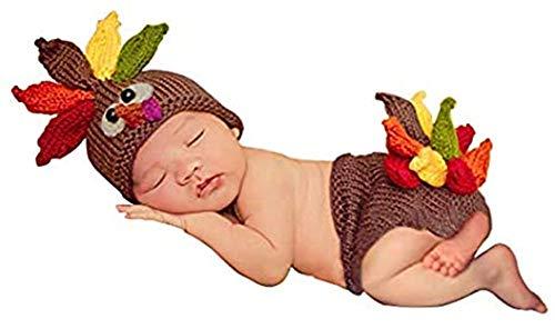 Newborn Baby Newborn Photography Prop Crochet Turkey Costume Hat...