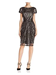Copper/Black S/S Sequin Dress