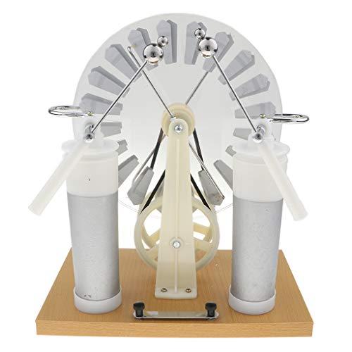 B Blesiya Wimshurst Elektrostatischer Induktionsmotor Pädagogisches Spielzeug Physik Experiment Ausrüstung