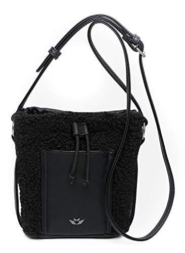 Fritzi aus Preussen Damen Poni Cross medium Umhängetasche, Black, One Size