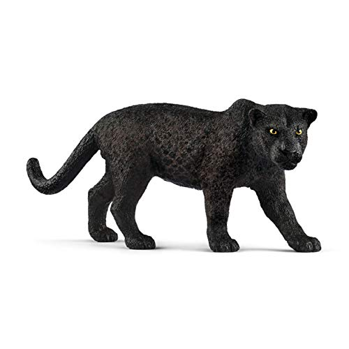 Schleich Wild Life Black Panther Educational Figurine for Kids Ages 3-8