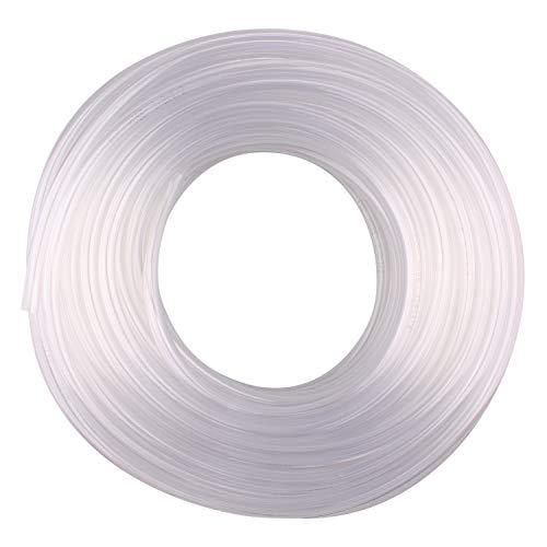 DERNORD PVC Tubing 3/8'ID X 1/2'OD Flexible Clear Vinyl Hose 100 Feet for Food Grade (3/8'ID X 1/2'OD)