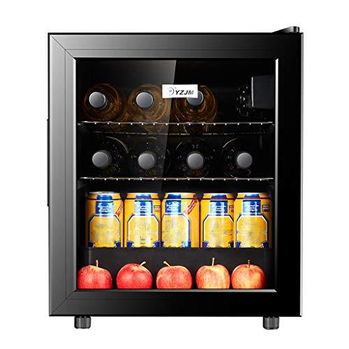 Mini-réfrigérateur Mini-Bar - 60L, Noir, Porte en Verre trempé à Double Isolation, Convient aux Petites Chambres d'hôtel, aux Bureaux et aux Chambres