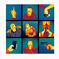 装飾ギフトスケプタ-無視は至福の音楽アルバムカバーキャンバス絵画プリントポスター壁の装飾家の装飾-60X60CMフレームなし