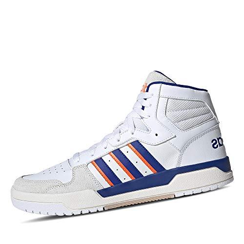 adidas Herren ENTRAP MID Sneaker, Ftwbla/Azurea/Narsen, 42 2/3 EU
