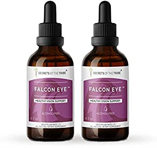 Secrets Of The Tribe - Falcon Eye, Healthy Vision Support, Herbal Supplement Blend Drops Alcohol-Free Liquid Extract (2x4 ...