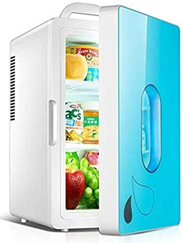 Mini nevera, 20L / 25L Pequeño dual del coche Refrigerador, Mini refrigerador individual en dormitorio for alquiler de casa, más frío y, 20l Blue Sky, inteligente 1yess (Color : 20l Sky Blue)