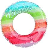 Anillo de natación Rainbow Natation Bague - Enfants Summer Beach gonflable Bague de bain en forme mignonne, Piscine River Plage Tube Floating Tube gonflable Bague de bain robuste, jouet de plage de fi