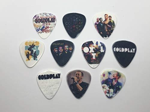 Coldplay Gitarrenplektren (10 Plektren / 10 verschiedene Designs)