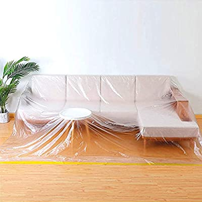 146?Lx106?W Extra Large Sofa Couch Cover, Heavy Duty PEVA Waterproof & Dustproof Sofa Storage Covers,Bed Sofa Couch Furniture Protector Cover Shelter ForMoving Protection and Long Term Storage