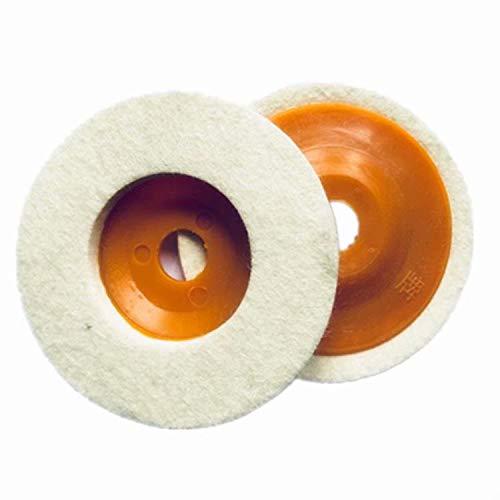 HANBIN Filz Buff 5-Pack Set für Scheibenschleifer 100φ Hochglanzpolieren, Orange Orange