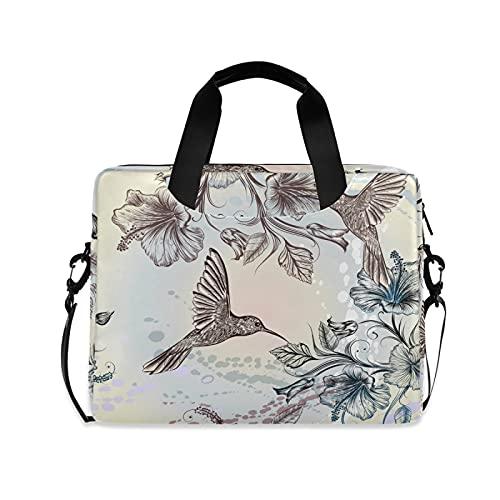 JNlover Vintage Animal Hummingbird Laptop Bag 16 inch, Portable Sleeve Briefcase Laptop Case Notebook Computer Carrying Case Bag for Women Men