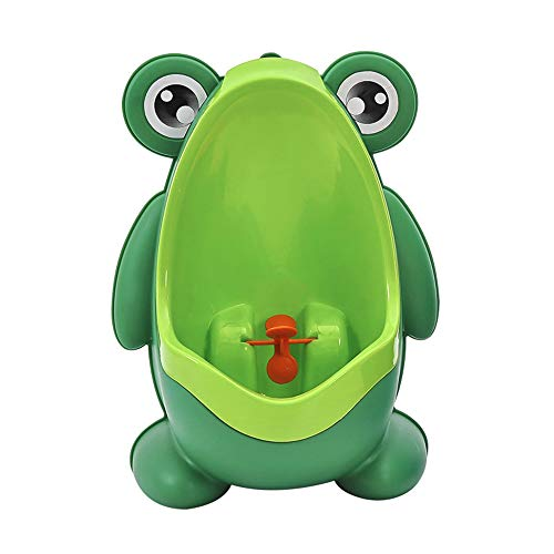 Frog Potty Training for Boys,Frog Pee Training,Cute Removable Training Urinal Toilet with Funny Aiming Target(Green)