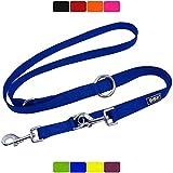 DDOXX Correa Perro Multiposición Nylon, Ajustable en 3 tamaños, 2 m   Diferentes Colores & Tamaños   para Perros Pequeño, Mediano y Grande   Correa Accesorios Doble 2 Gato Cachorro   S, Azul, 2m