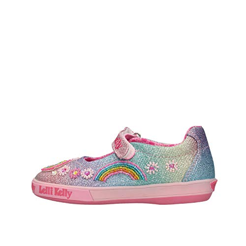 Lelli Kelly Rainbow Unicorn Dolly Meerkleurig (Multi Glitter) Textiel Kinderen Mary Jane Schoenen