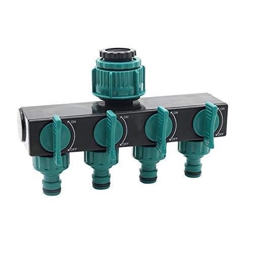 QXLG Wasserrohr 1/2'-3/4' -1'Splitters de Manguera Adaptador de riego Conectores de Manguera de Agua de 4 vías Estándar Europea Femenina Femenina Conectores de Grifo 1 PC Dauerhaft