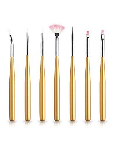PROFICO Pinselchensatz zum Gel | Komfort und Vielfältigkeit beim Nagelstyling | 7 Stück | B606
