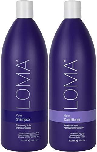 Loma Hair Care Violet Shampoo Violet Conditioner Duo, 33.8 Fl Oz each