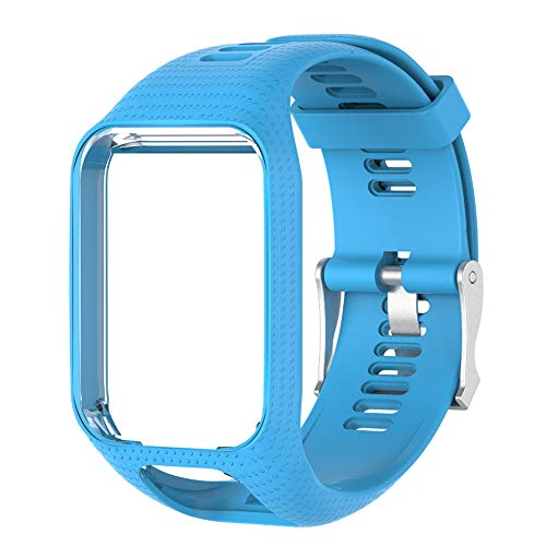 Voghtic Bracelet Adventurer Montre Remplacement pour Tomtom, Silicone Souple Bracelet Compatible avec Tomtom Runner 2/Runner 3/Spark 3/Golfer 2/Adventurer