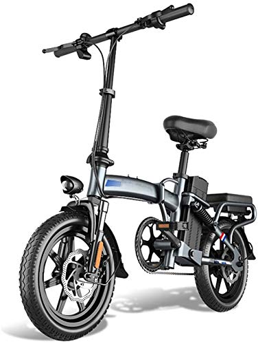 Bici electrica, Bicicleta plegable eléctrica, 48V batería de litio extraíble 400W Motor...