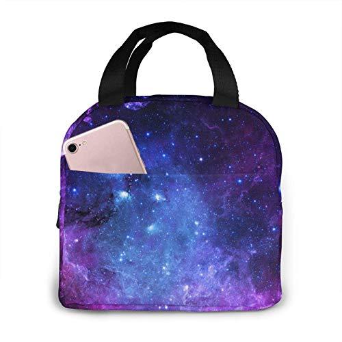 Hdadwy Fiambrera azul de la bolsa de asas de la bolsa de almuerzo de la galaxia Fiambrera aislada Fiambrera para el hombre de la mujer