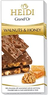 Heidi Grand' Or Walnuts Honey Milk Chocolate Bar 100g (5-pack)