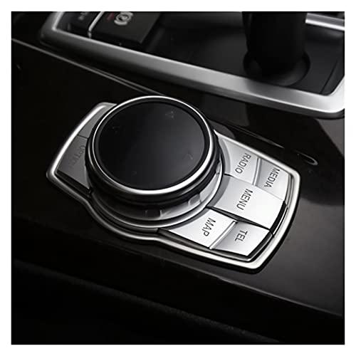 FSLLOVE Pulsanti multimediali Auto Coprire Adesivi Emblema Adatti per BMW x1 x3 x5 x6 f30 e90 E92 f10 f18 f11 f07 GT f18 f16 f25 e84 E60 (Color Name : 7 Button Style, Size : for Cross Style)
