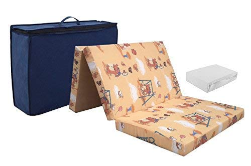Reismatras van hoogwaardig koudschuim. 60 x 120 + badstof lakens wit! Schuim reisbed matras opvouwbare matras