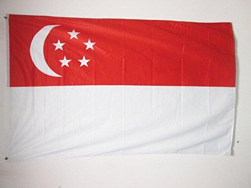 AZ FLAG Flagge Singapur 150x90cm - SINGAPURISCHE Fahne 90 x 150 cm Aussenverwendung Metallösen - flaggen Top Qualität