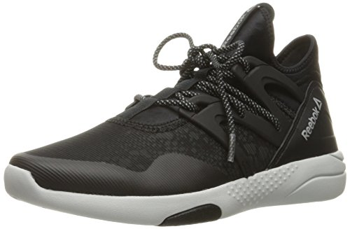 Reebok Women's Hayasu Cross-Trainer Shoe, Black/Skull Grey/Silver Reflective, 8.5 M US