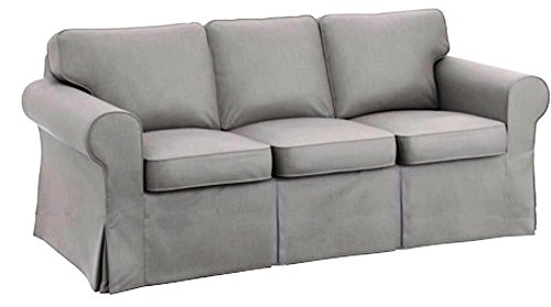 The Sofa Cover is 3 Seat Sofa Slipcover Replacement. It Fits Pottery Barn PB Basic Three Seat Sofa (Basic Light Gray)