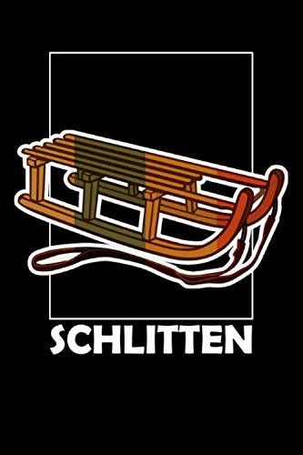 Schlitten: Schlitten Rodeln Abfahrt Piste Winter Wintersport Liniert 6 x 9
