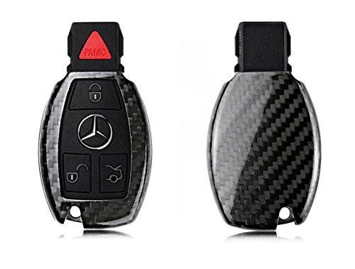 Cubierta de caja de cubierta de llave remota de fibra de carbono real para Benz