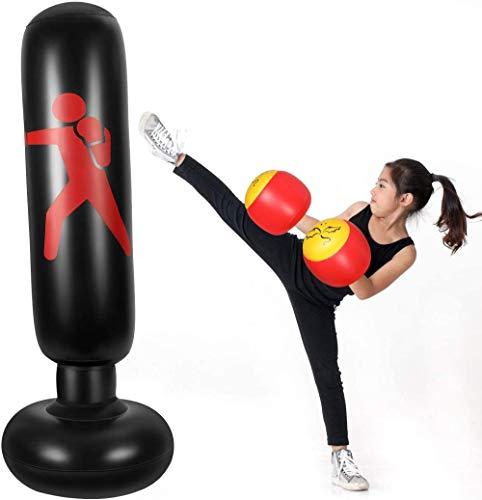 Wdsjxd Saco de boxeo inflable de pie Tower Boxing Target para entrenamiento físico 160 cm