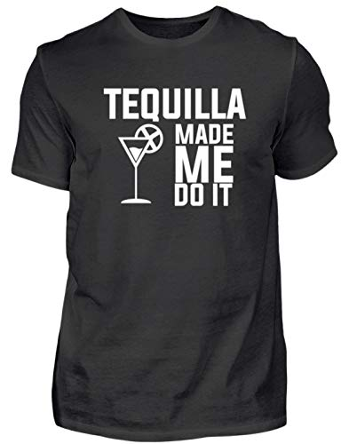 Tequilla Mexico Spaanse feesten zwart vakantie vakantie Let ◊s Do It Made Me Do It - heren shirt