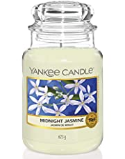 Yankee Candle Midnight Jasmine Vela grande y aromatica, Blanco